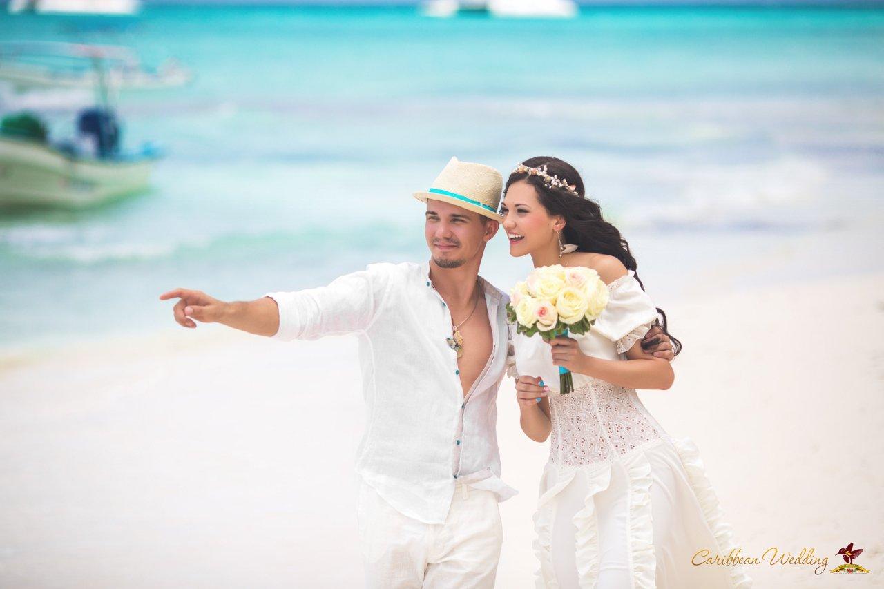 Caribbean Wedding: Artem & Julia's Fairy Tale Wedding Ceremony In The