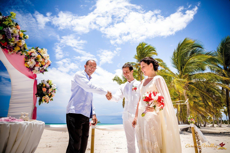 Caribbean Wedding: Official Wedding Ceremony In Dominican Republuc, Juanillo