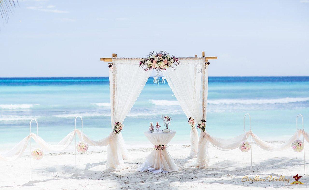 sergey and anastasia�s island saona wedding in the
