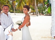Wedding in Dominican Republic, Huanillo beach. Marika and Pavel (boat trip).