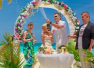 Official wedding ceremony in Dominican Republic, Cap Cana beach. Zhanna and Dmitry