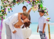 Wedding in Dominican Republic, Cap Cana beach.  Zhenya, Irina and son Akim