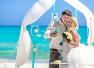 NEW Wedding arch and Symbolic Ceremony in a Private Beach Cap Cana {Nataly+Michael}
