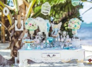 Wedding in Tiffany and pink color {Anastasia and Alexander}