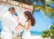 """Wedding in the Dominican Republic in the style of """"Rustic Romance"""""""
