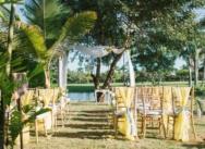 Wedding on Lake View private villa in Dominican Republic {Nkeche and Chevanese}
