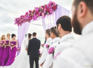 Purple wedding on one of the most beautiful beaches in the world – Juanillo Beach, Cap Cana {Alina and Austin}