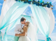 Wedding in Tiffany color on Saona island {Natalia and Vyacheslav}