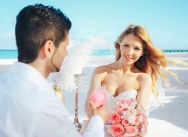 Wedding in the Dominican Republic in pink and white colors on Juanillo beach {Carmen and Alessandro}