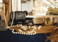 Wedding in the Great Gatsby style in the beach restaurant {Cydne and Yeremy}