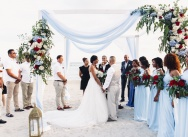 Destination wedding at the restaurant Club Hemingway in the Dominican Republic {Santos and Tanya}