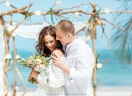 Wedding on a private beach in Boho style, Dominican Republic {Kristina and Ivan}