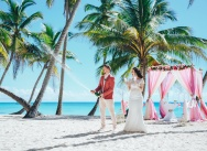 Wedding in berry tones on Saona island {Julia and Alexander}