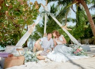 Wedding in rustic style on Caribbean beach  in the Dominican Republic {Katya and Artem}
