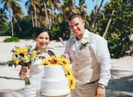 Wedding with Sunflowers in the Dominican Republic {Bella and Roger}
